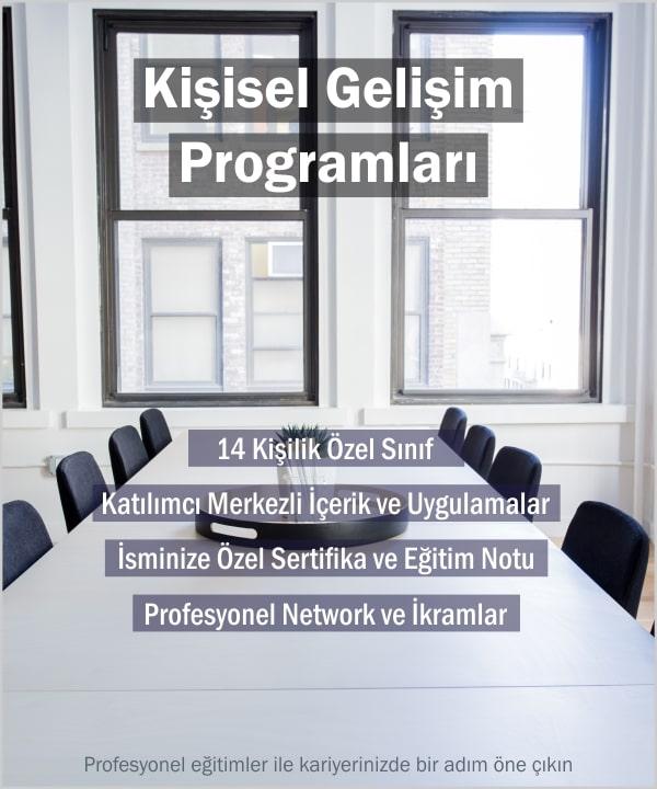 İmaj Yönetimi Eğitimi, Etkili İletişim Teknikleri, Etkili Beden Dili, Topluluk Önünde Konuşma, Stres Yönetimi Eğitimi, Motivasyon Eğitimi, Liderlik Eğitimi, Hitabet, Diksiyon Kursu